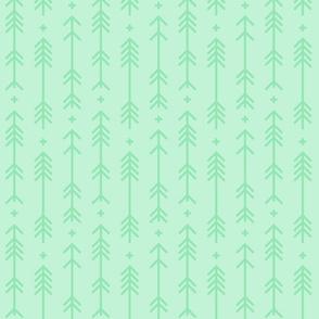 cross + arrows ice mint green tone on tone