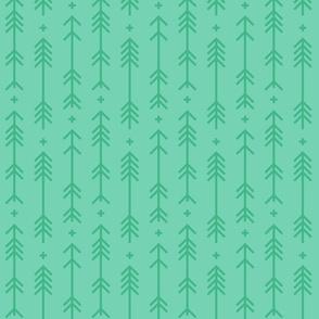 cross + arrows sea foam green tone on tone