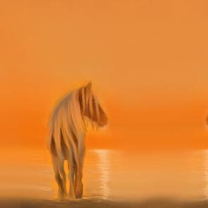 Golden Horse Sunset