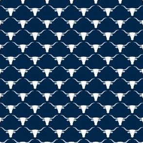 Longhorns (White on Blue Extra Small)