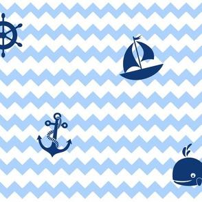 Nautical Navy Blue Baby Boy Nursery