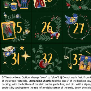 Large Nativity Fast Calendar, Front Only