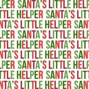 Santa's Little Helper - Red and Green Multi - LAD19