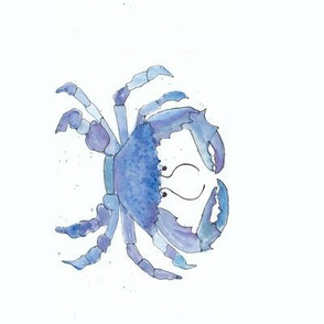 blue watercolor crab-rotated