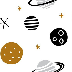 Space planets moon galaxy (large)