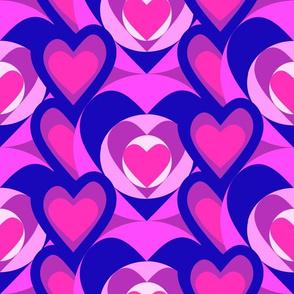 Color blocking pink hearts 7