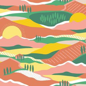 Sunny Tuscany colorblock