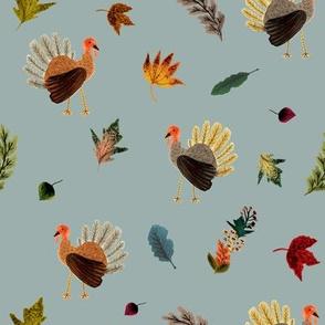 Fall Thanksgiving Turkeys // Pewter