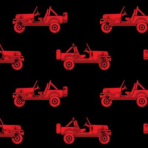 jeeps - red on black - LAD19BS