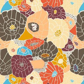 Floral Mosaic Colorblock