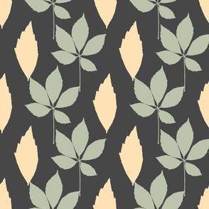 Vertical Leaves on Gray