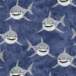 sharks - sharks on blue  2 - LAD19