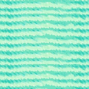 Organic handrawn waves in blue green watercolor