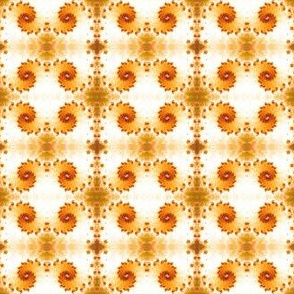 Hypnotic spiral fractal orange shades