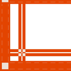 white w_red-orange plaid