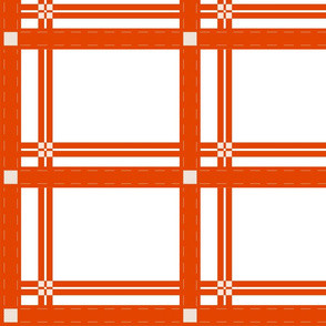 white w_red-orange plaid-sm