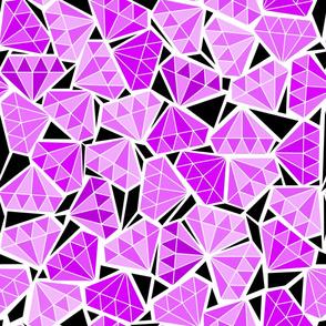 diamonds in the rough - purple