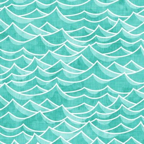 waves - teal - LAD19