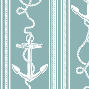 Anchor Rope Neutral Turquoise