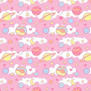Original Cute Planets in Pink