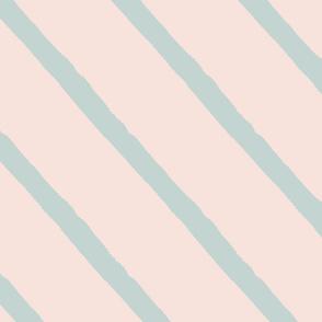 cranes stripes peach sage
