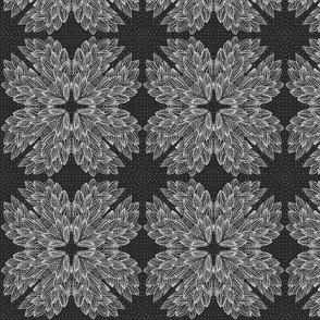 geometric flowers( black and white)
