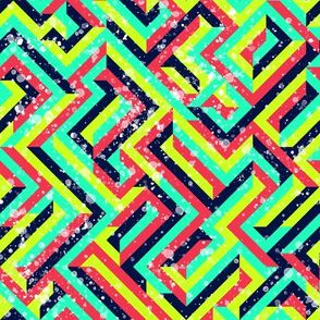 bright colored stripes - textured