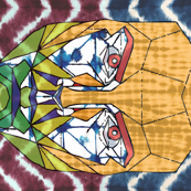 shibori face festival quilt