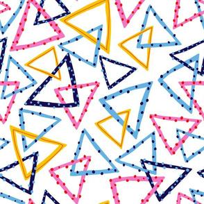 Dotty Triangles - White