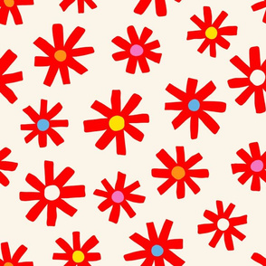 Flower Burst - Red