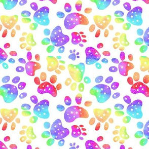 Rainbow paw prints #2