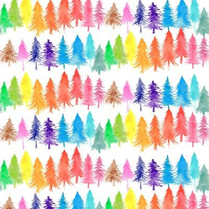Watercolour Rainbow Forest
