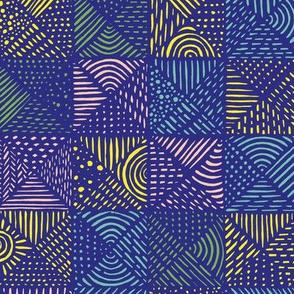 Teppich Colorblocking