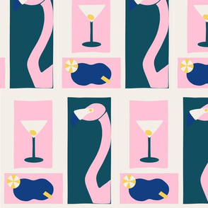 Flamingoes and Cocktails