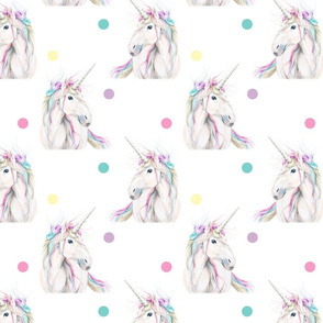 Rainbow Unicorn Dots
