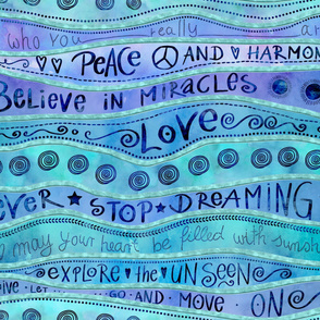 Watercolor Handlettering Cheater Quilt Design