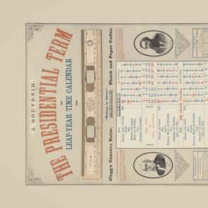 Vintage Advertising Calendar Teatowel
