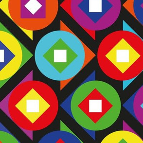 Colour Block Circles and Triangles