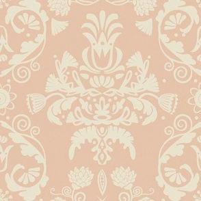 Elegant damask | rose gold