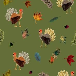 Fall Thanksgiving Turkeys // Green Chalet
