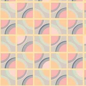pastel polka dot panels