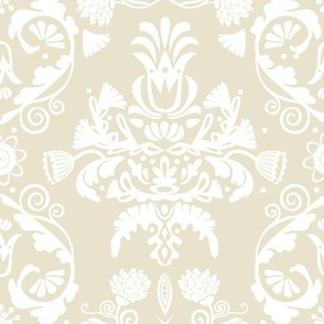 Elegant damask | off white