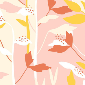 Botanic Color Block - pink and yellow