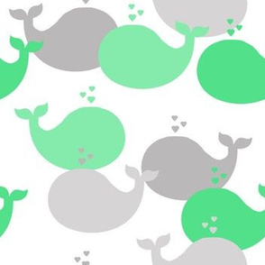 Whales Mint Green Baby Nursery