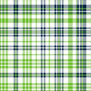seahawks plaid fabric - navy and lime green fabric, navy and green fabric - action green