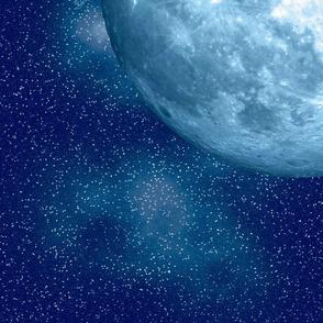 Nebula Blue Moon Fabric