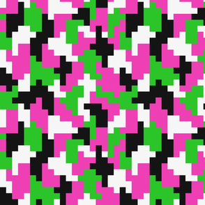 Girl Boss neon color blocking shapes Fabric pattern