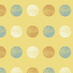 Tweed Circles Flax Small