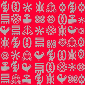 red adinkra mono