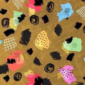 Color Blocks Coordinate (Shapes Mustard)